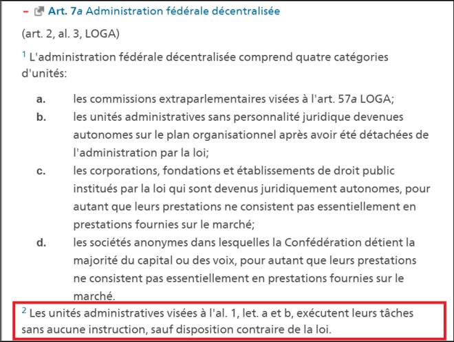 Administration fédérale décentralisée