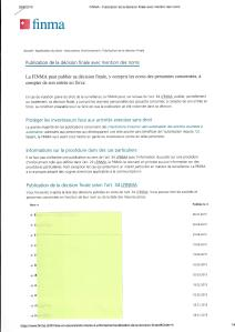 FINMA Liste des décisions finales pic II