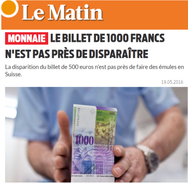 Le Matin - 1000 francs