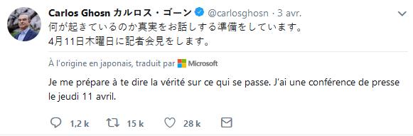 (Màj)Carlos Ghosn allait parler, il retourne en prison! Sa vie serait-elle en danger?LHK