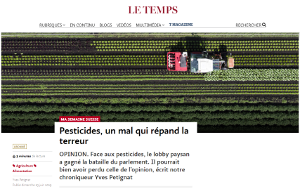 Pesticides - Le Temps