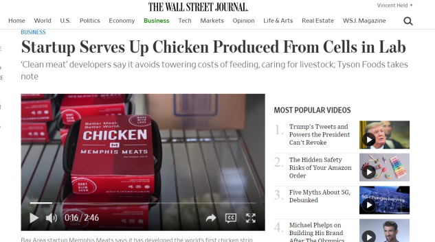 WSJ - Memphis Meat - CHICKEN PACKAGES!!!
