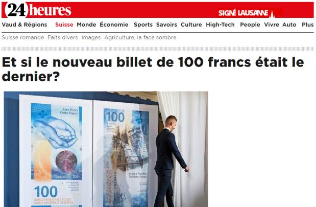 Supprimer le cash? En Suisse, le débat est déjà tranché. VincentHeld