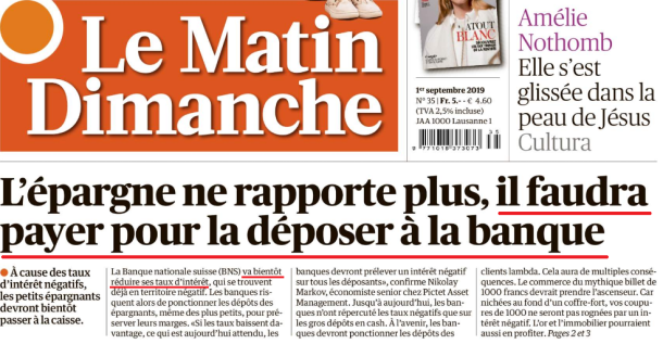 MatinDimanche - Taux négatifs II
