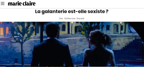 Marie Claire - galanterie