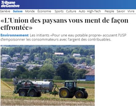 TDG - Union des paysans vous ment