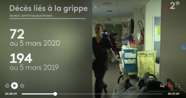 décès grippe France 2