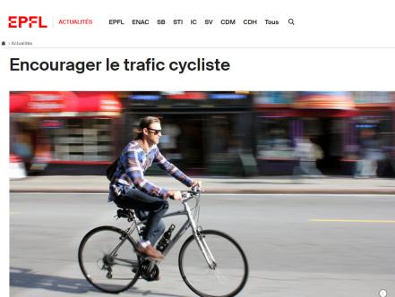 EPFL - cyclistes