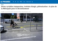 Le Progrès - Cyclistes