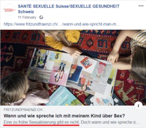 Santé Sexuelle Suisse - sexualisation des enfants II