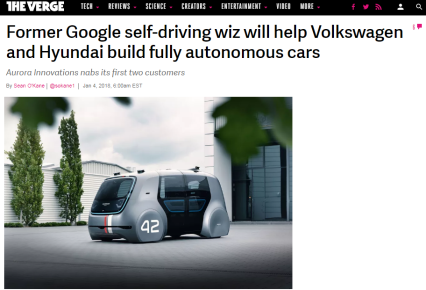 VW - Autonomous vehicle