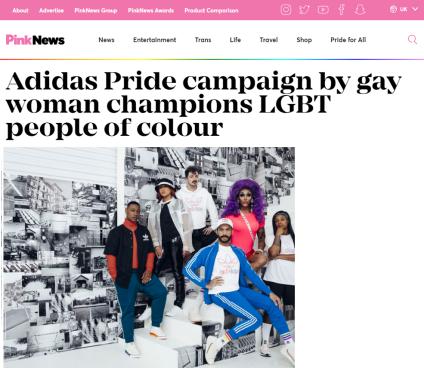 Adidas Pride Campaign