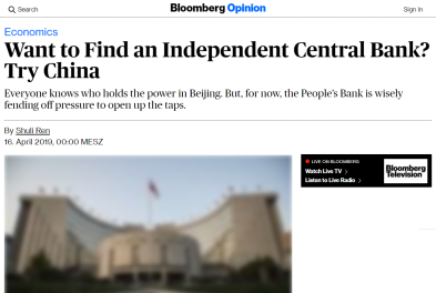Bloomberg - People Bank of China