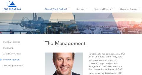 EBA Clearing - Management