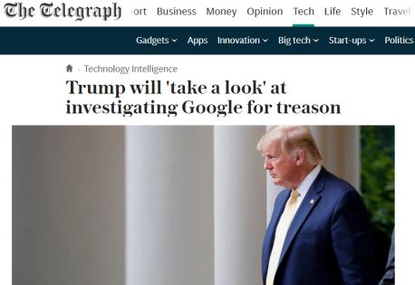 Trump - Google - China