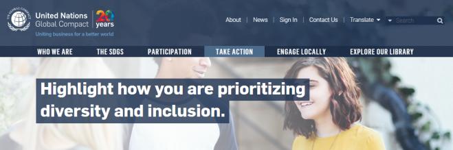 UN Global Compact - Diversity & Inclusion