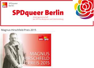 SPD - Magnus Hirschfeld Preis