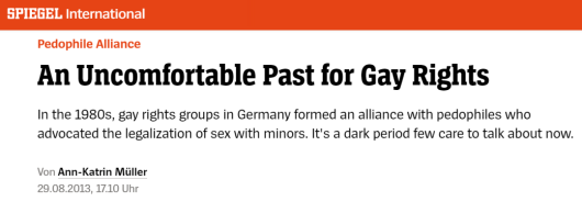 Spiegel - Pedophile Alliance